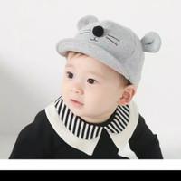 Topi Bayi Anak Balita Model MOUSE Korean Import Style Baseball Unik Ku