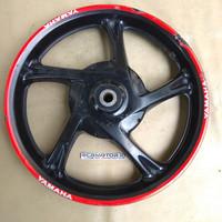 original velg racing belakang yamaha mio j hitam list merah copotan