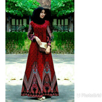 gamis batik baju batik gamis busana batik terbaru