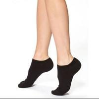 Kaos Kaki Pendek Wanita Mata Kaki socks import Premium Polos Warna - Hitam Polos