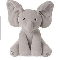 ELEPHANT PEEK A BOO singing plush doll boneka gajah bernyanyi cilukba