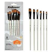 Kuas Lukis Cat Air Akrilik Set 6 pcs Oil Paint Brush