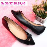 FLAT SHOES LAVIOLA ORIGINAL BRENDED - Hitam, 37