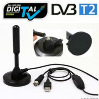 Portable Magnet Antena/DVB-T2 Antena Real 30dBi With Booster