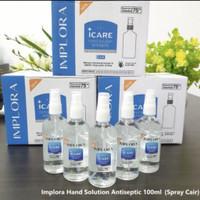 IMPLORA HAND SANTIZER ALCOHOL 75% EKSTRAK ALOE VERA 100 ML SPRAY CAIR