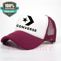 Topi jaring baseball snapback Converse custom 1