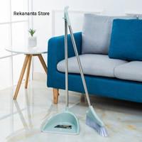 1 Set Sapu Dan Pengki - Dustpan Broom Set - Alat Kebersihan - Blue