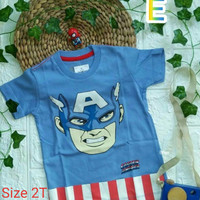 oshkosh avengers captain america kaos anak superhero size 2
