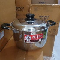 Panci Sauce Pot D24cm Zebra Wisdom Plus, SUS 304, Thailand Made