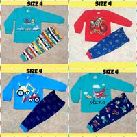 Setelan Baju Tidur Anak Cowok / Cewek Kaos Katun Usia 1 - 4 Tahun