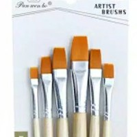 Kuas Lukis Cat Air Akrilik Set 6 pcs Oil Acrylic Paint Brush