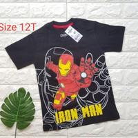 Oshkosh iron man kaos anak super hero size 12