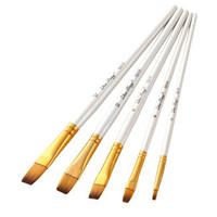 Kuas Lukis Cat Air Akrilik Set 5 pcs Oil Acrylic Paint Brush