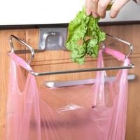 Gantungan Kantong Sampah Hook Pintu Lemari Dapur Besi Stainless KUAT