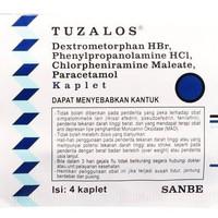 Tuzalos Strip @ 4 kaplet (Obat Flu,Demam,Sakit Kepala disertai Batuk)
