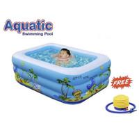 AQUATIC Kolam Renang Anak Rectangular 3 ring C-002 / Swimming Pool