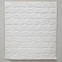 Wallpaper Dinding 3D Bata 70 x 77 cm Brick Foam - Bata Putih 6mm