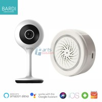 Smart Home Basic Security Kit - BARDI IP CCTV Camera + Siren Alarm