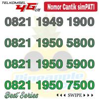 Nomor Cantik Simpati telkomsel 4G LTE seri 0821 1950 xx00