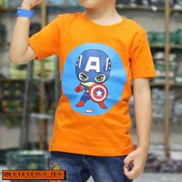 Terbaru Baju Kaos Anak Superhero CAPTAIN 1 2 4 6 8 tahun Terlaris