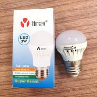 Lampu LED 3w 3 watt Hinoki 3watt Bohlam Bulat E27 Light Bulb