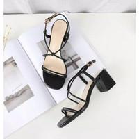 sepatu wanita big heels hitam hak