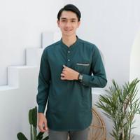 Rfam Fashion Muslim Pria Baju Koko Kurta Toyobo List Songket FRS - Putih, M