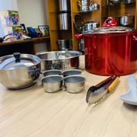 Supra Stainless Cooker Steamer 28 cm. Kukusan Pemasak Nasi