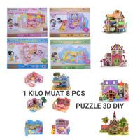 Mainan Edukasi Puzzle 3D DIY Jigsaw Mainan Anak