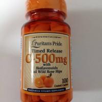 Puritans pride timed release vitamin C 500mg-suplemen daya tahan tubuh