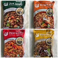 Samyang Bulgogi, Topokki, Jjang, Kimchi