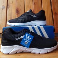 Sepatu Adidas Neo buat sekolah dan main murah berkualitas - Hitam, 36