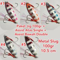 Metal Jig 100gr Lengkap dengan Assist Hook Buat Slow Jigging