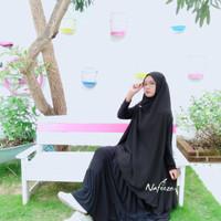 Khimar Hijab Long Cardi jumbo tangan bolong sporty unik murah limited