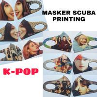 masker scuba full printing, motif kpop