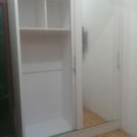 Lemari Pakaian sliding/Lemari baju pintu kaca geser 150x50x200