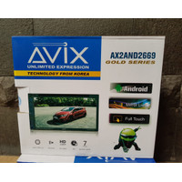 Head Unit Double Din Android 7 inch AVIX AX2AND2669G Gold Series Promo