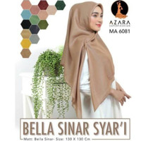 Jilbab / Hijab / kerudung terbaru segiempat bella sinar syari by azara