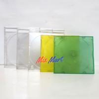 Case Casing CD Single / kotak CD Kosong / Tempat DVD VCD Bening Warna