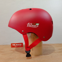 HELM SEPEDA VITANO - LIPAT / MTB / BMX / SKATEBOARD - MATT RED