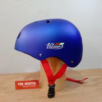 HELM SEPEDA VITANO - LIPAT / BMX / MTB / SKATEBOARD - MATT BLUE