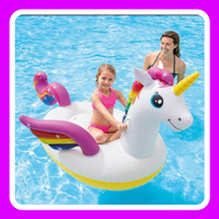 Intex 57561 Pelampung Renang Anak Dewasa Ride On Unicorn Import