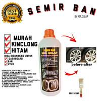 Semir Ban plus Kuas/Pengkilap Ban/Penghitam Ban Mobil Motor/MR Qilap