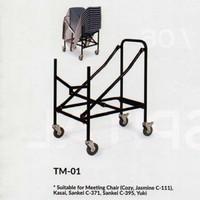 CHITOSE TROLLY TM 01-Troli kursi susun/Troli kursi meeting/auditorium