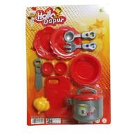 Mainan Masak Masakan Kitchen Hallo Dapur Set Serba 10000
