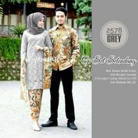 Couple batik brokat sarimbit dress