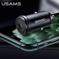 usams fast pd car charger mobil 18w iphone x xr 11 ipad pro max type c