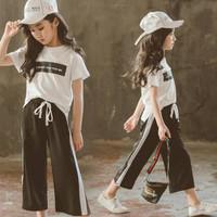 [Lanikaclothes] Setelan kulot+t-shirt anak perempuan import