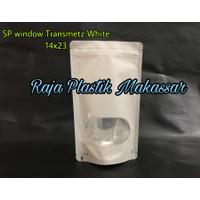 Standing Pouch Window Transmetz White 14x23 cm
