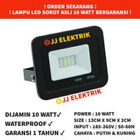 Garansi LED Sorot 10W Flood Light Lampu Tembak 10 W Watt Outdoor